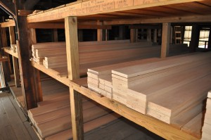 Red Oak hardwood boards
