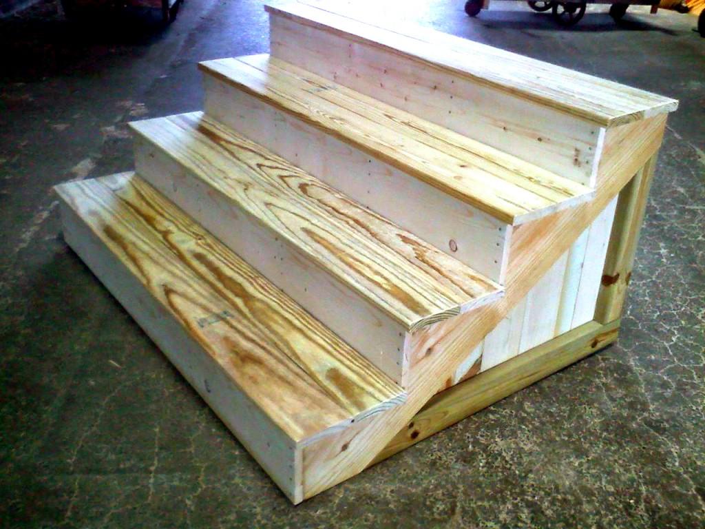 Pre-Made treated Wood Steps