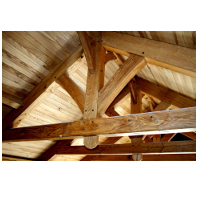 Wood framing trusses