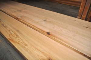 cedar boards and planks
