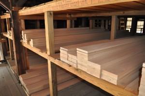 Red Oak hardwood boards